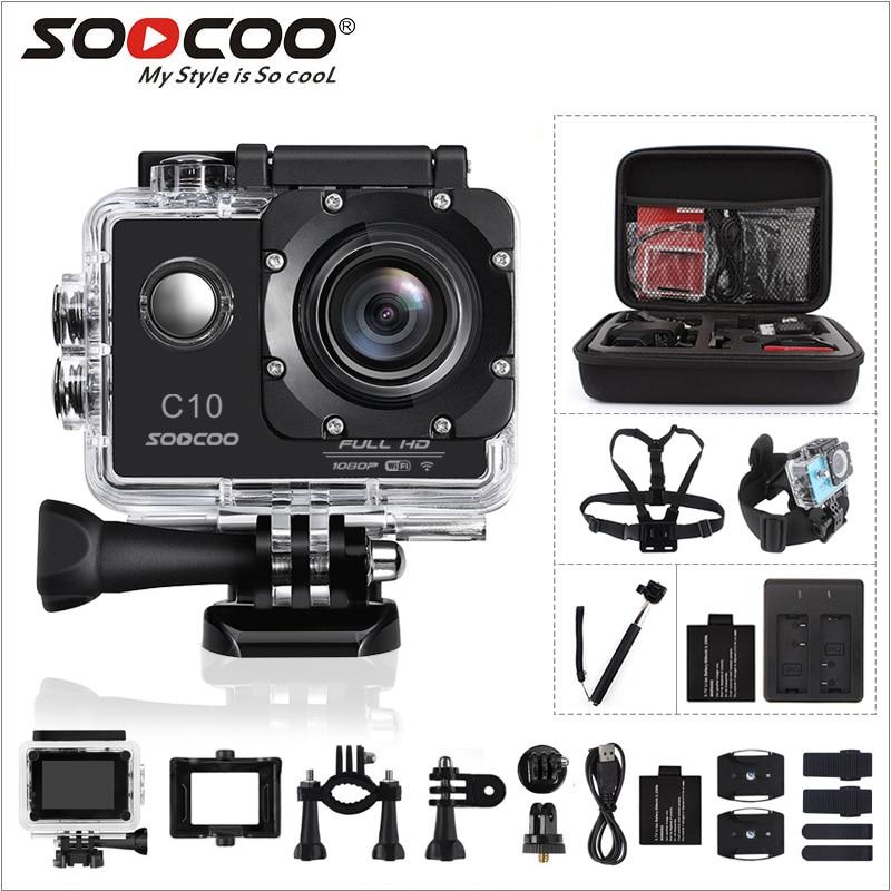 SOOCOO C10-Full HD Câmera de Ação de Esportes 12MP NOVATEK96655 com Wifi cam 1080 p 170 Graus de Largura Da Lente À Prova D' Água 900 mah