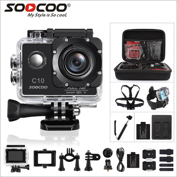 SOOCOO C10 Full-HD Sports Action Camera NOVATEK96655 with Wifi cam 1080p 12MP 170 Degree Wide Lens Waterproof 900mah
