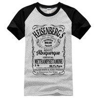 새로운 패션 Hermanos 티셔츠 남자 속보 나쁜 월터 화이트 2017 여름 남성 마이크 쿡 탑 남성 티 탑 하이젠 베르크 t 셔츠 남성