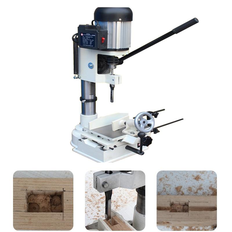 750 W Tenon Machine à bois mortaiseuse menuiserie Groover forage trou Tenoning outil petite Table outil de forage MK361A