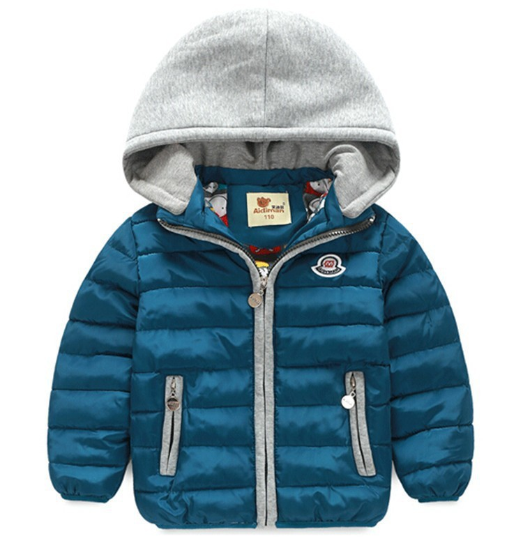 BibiCola baby boy/girl Candy color Down cotton hooded snowsuit parkas kid winter warm coat children solid outerwear & jacket
