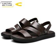 Camel Active/Новинка года; быстросохнущие сандалии из натуральной кожи; Летние качественные повседневные кроссовки; нескользящая пляжная обувь; 19365