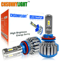 LED Car Headlight Bulbs H7 H11 H8 H3 HB3/9005 HB4/9006 12V 24V 6000K Super Bright Halogen Replacement Auto Lights Conversion Kit