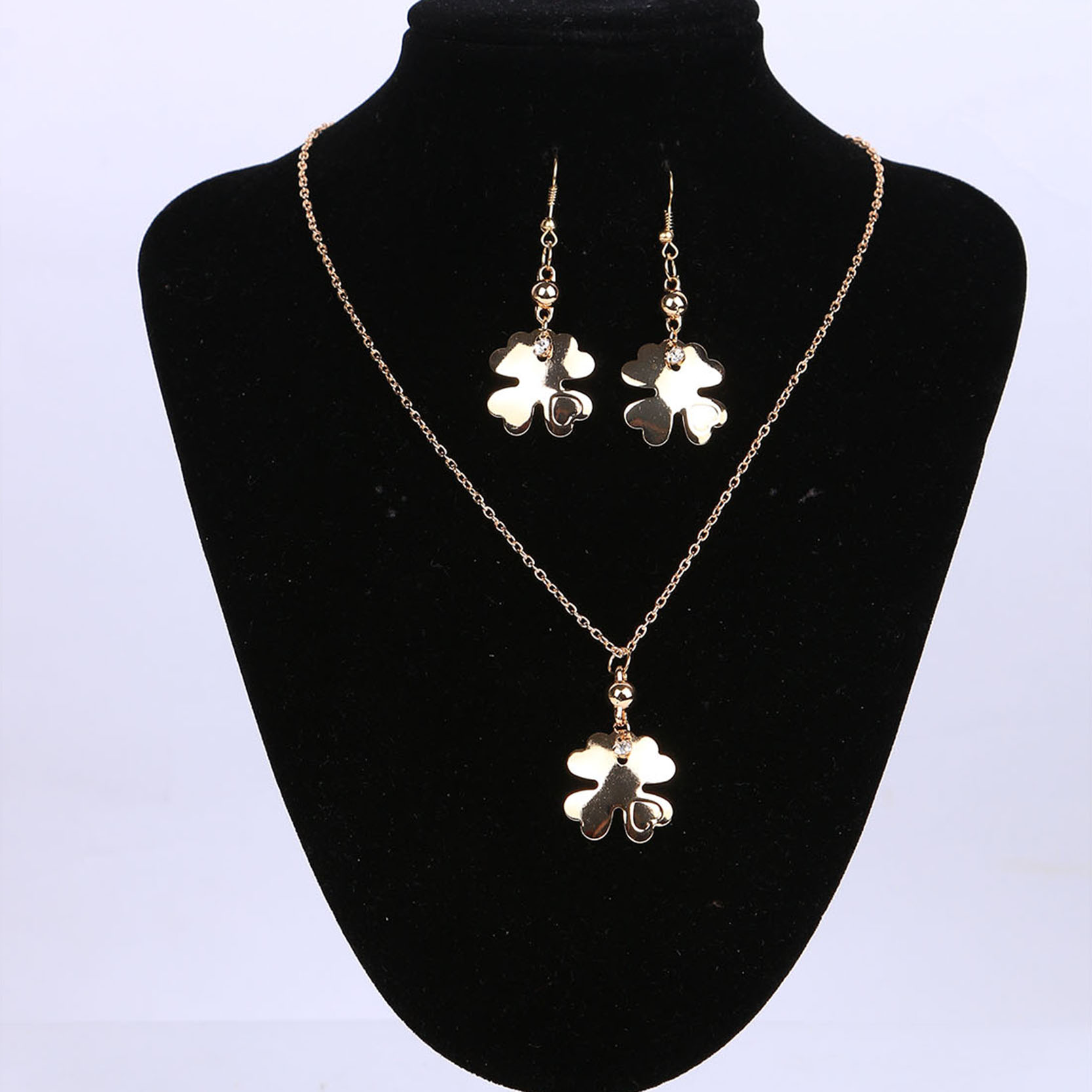 Bridesmaid Jewelry Set Gold Color With Snowflake Drop