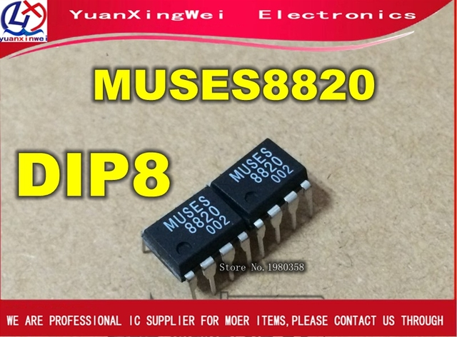 1 قطعة جديد الأصلي MUSES 8820 MUSES8820 المزدوج المرجع أمبير للترقية AK4490 DAC ، شحن مجاني