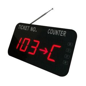 Image 3 - مطعم لاسلكي نظام إدارة الصف رقم الشاشة مع طابعة حرارية زر التحكم التالي