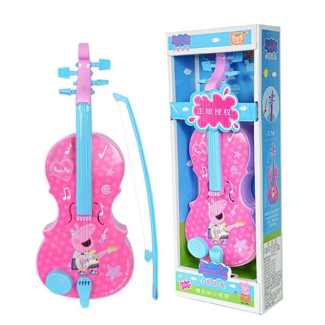 Hot sale Genuine Peppa Pig 32cm/13″ Children Musical Instruments Toy pink blue Violin Instruments Education Birthday Gifts 99047