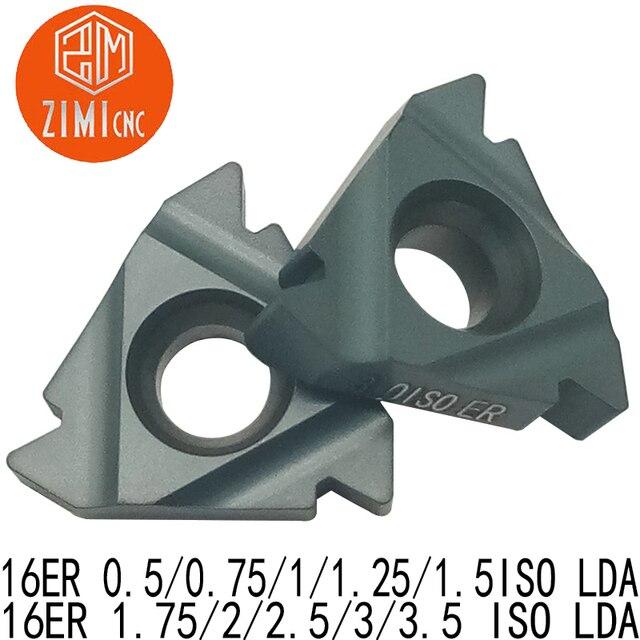 10 Chiếc 16ER 0.5/0.75/1/1. Năm 25/1. Năm 5/1.75/2/2.5/3/3.5 ISO LDA Carbide Chèn, CVD Lớp Phủ, Cắt Thép Và Thép Đúc Đặc Biệt Cung Cấp