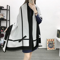 Winter Luxury Brand Scarves Women Long Wool Cashmere Scarf Pashmina Warm Women S Oversized Blanket Scarf