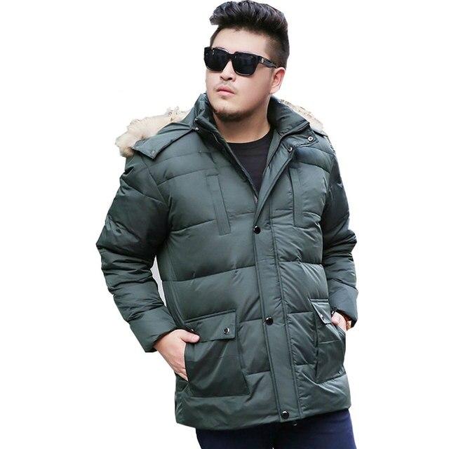2019 Kış erkek Kalınlaşma Uzun saç Yaka ceket Erkekler's Park ceket erkek Büyük boy XL-8XL 9XL 10XL marka Ceket Mavi/Yeşil