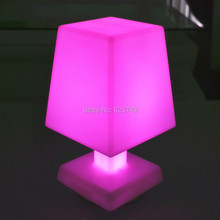 Free shipping Modern remote control cordless LED mood light table lamp Rechargeable, PE led night Table light Break-resistant 10pcs fast free shipping super bright cordless rechargeable multi color remote control lighting for wedding table