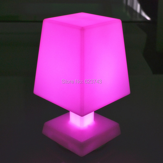 Free Shipping Modern Remote Control Cordless LED Mood Light Table Lamp  Rechargeable, PE Led Night