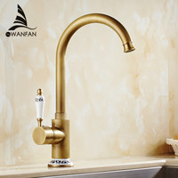New Arrival Retro Style Antique Brass Kitchen Faucet Cold And Hot Water Mixer Single Handle 360