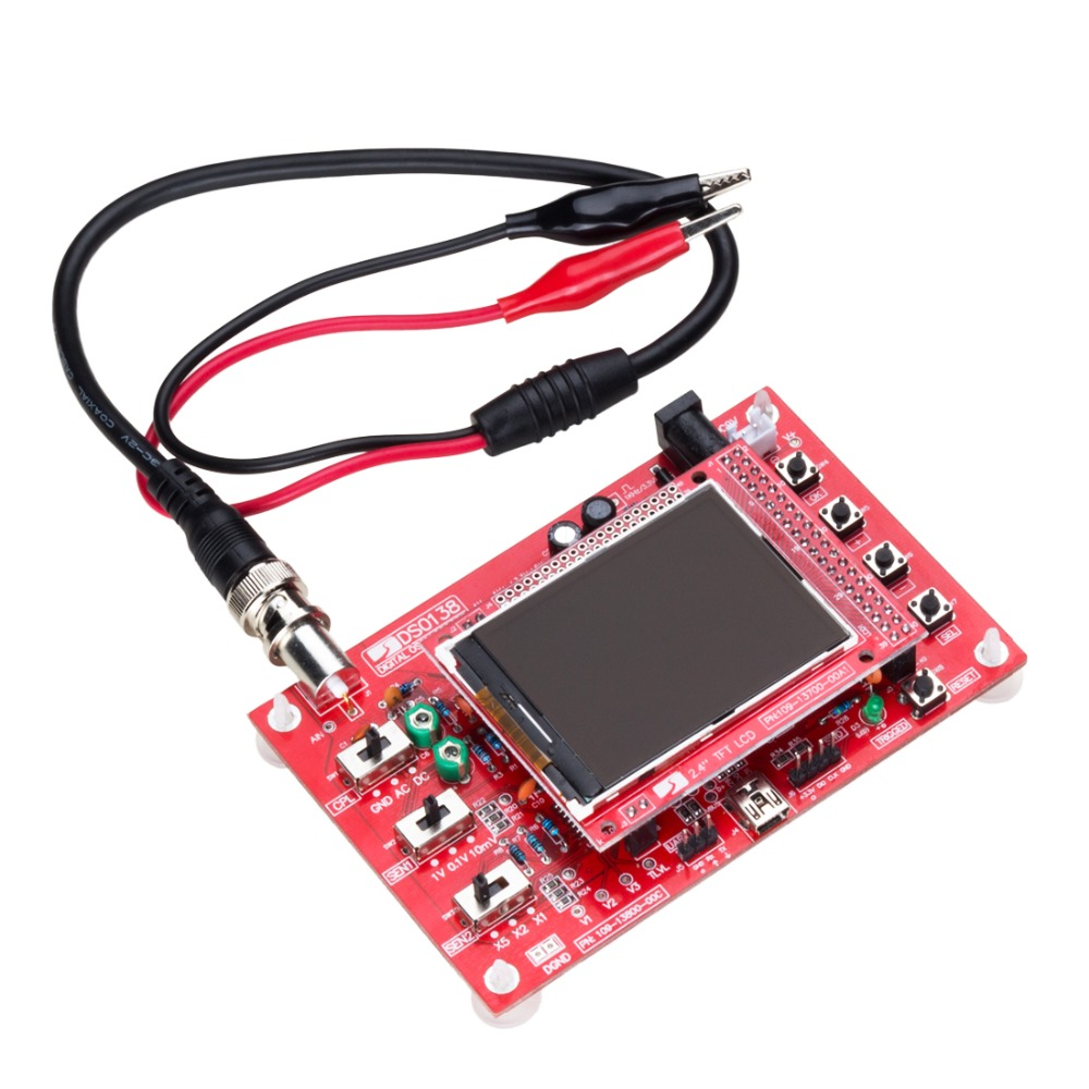2.4inch Display Screen DIY TFT Digital Oscilloscope Kit with Probe Cable  цены