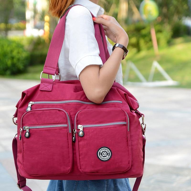 패션 브랜드 여성 방수 나일론 crossbody 어깨 가방 대용량 가방 고품질의 핸드백 여성 토트 메신저 가방