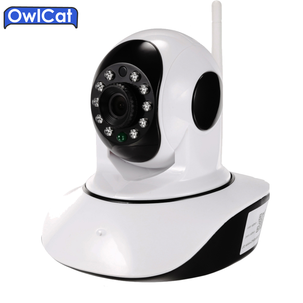 OwlCat HD WIFI PTZ IP Camera Two Way Audio 720P 1080P CCTV Security Smart Cameras Wireless Baby Monitor SD Card P2P Cloud View 826 smart wireless ptz cloud camera