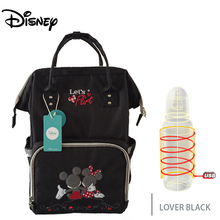 Disney New Lover Pattern Thermal Insulation Bag High-capacity Baby Feeding Bottle Bags Diaper Bags Oxford USB Insulation Bags disney new upgraded version mickey and minnie insulation bag top capacity baby feeding bottle bags diaper bags oxford usb bags