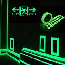 Лидер продаж Светоотражающая светящаяся лента самоклеющаяся наклейка Съемная светящаяся лента флуоресцентная светящаяся темная ударПредупреждение лента