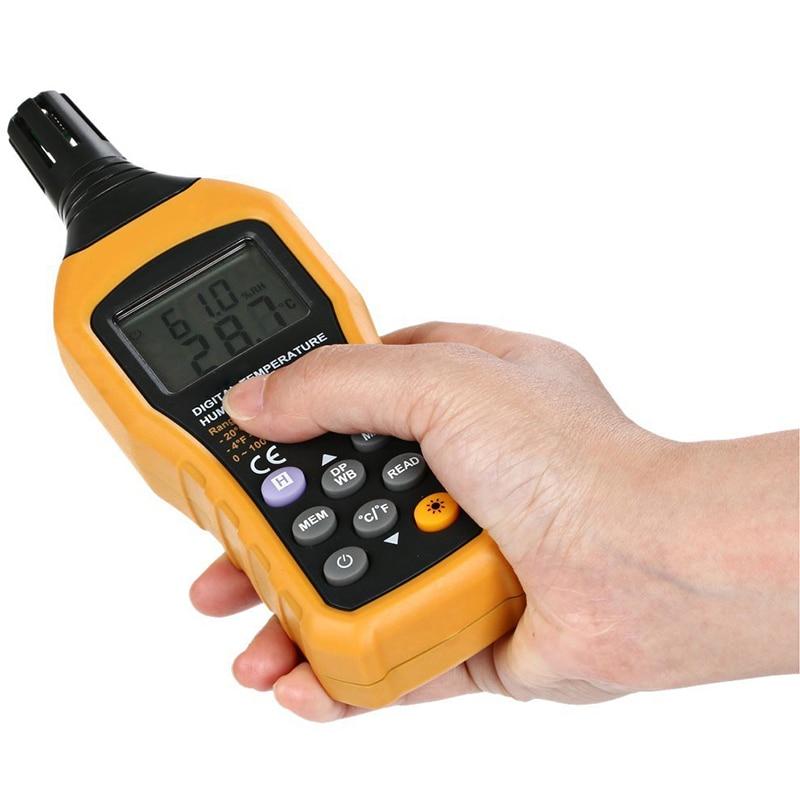 Portable LCD Display Digital Thermometer Hygrometer Handheld Temperature Humidity Meter Analog Back Light Data Log Tester Sensor portable digital lcd hygrometer temperature humidity meter thermometer 10 50c 5% 99%rh sp1362