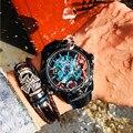 MEITUO автоматические часы для мужчин спортивные механические часы Топ бренд Роскошные наручные часы Красочные мужские часы Relogio Masculino