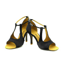 YOVE Dance Shoe Satin Women's Latin/ Salsa Dance Shoes 3.25″ Slim High Heel More Color w134-8