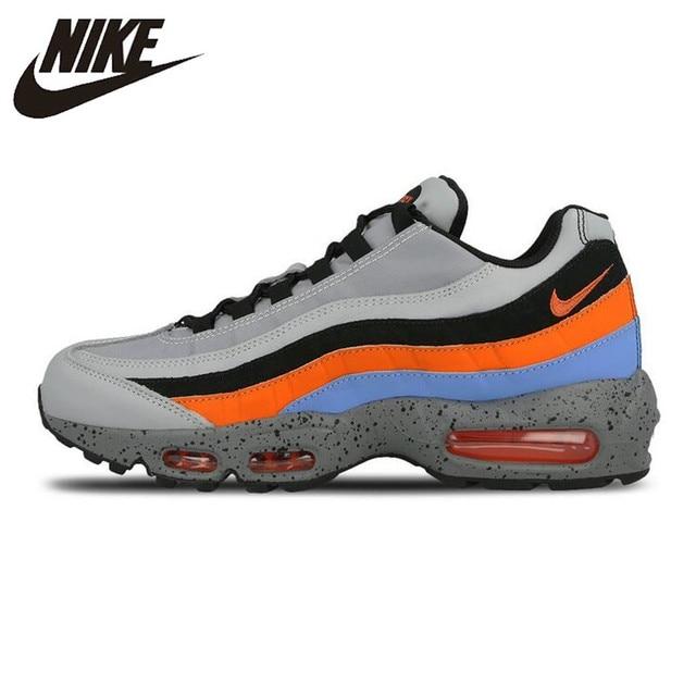Tênis de Corrida dos homens Nike Air Max Prémio 95, Laranja/Azul, -absorção de choque Não-slip Resistente Ao Impacto 538416 015 749766 026