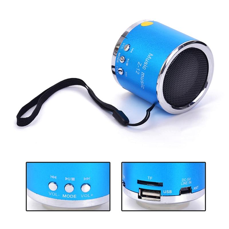 Top Deals MP3 Player TF Card mini SD Wireless USB FM Radio Mini Portable Speaker (Blue/Red/Purple)