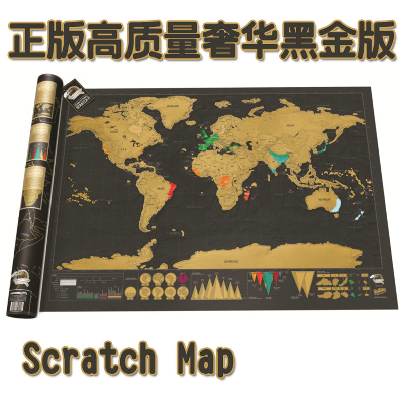 New Deluxe Travel Edition Scratch Off World Map Poster Personalized Journal Big Map Mapa Do Mundo Mapa Del Mundo