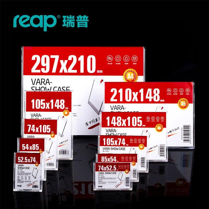 5-pack Reap Vara PS L-shape Desk Sign Holder Card Display Price Tag Menu Service Label Office Club Business School Restaurant