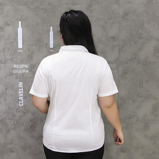 Oficina Verano Mujeres De Femininas Blanco Blusas Manga Las Tops Para 8xl Más Corta 9xl A438 Camisas Tamaño Del 7xl 1r4q5wx1