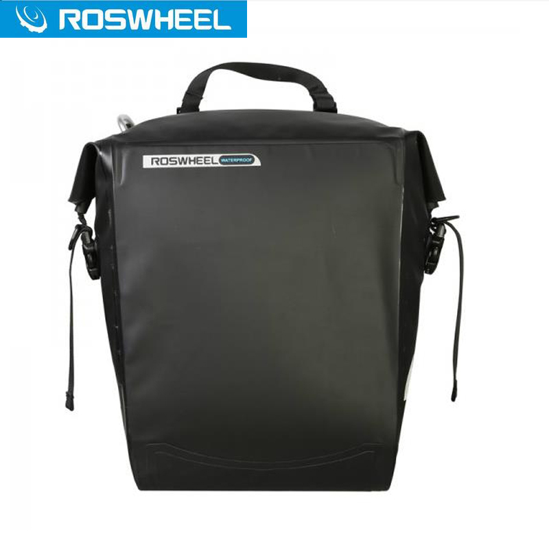 ROSWHEEL Cycling Rack Bag 20L Full Waterproof Carrier Bag Rear Bike Trunk Luggage Pannier Back Seat Cycling Bicycle Bag 120 45cm portable bedside notebook table mutil purpose rremovable computer desk lazy laptop desk children study desk with wheels