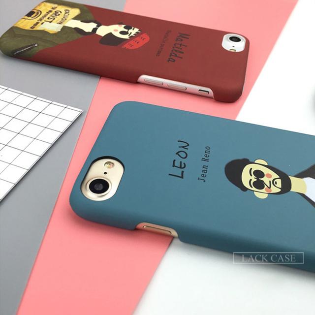 LEON The Professional Killer Movie Image Case For iphone 7  7 Plus
