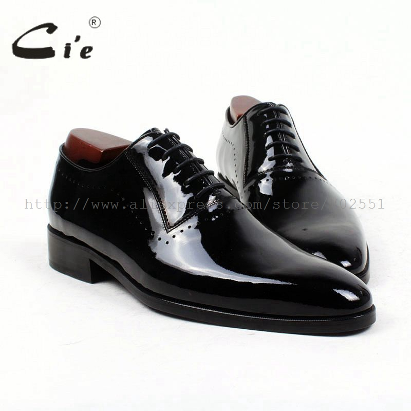 cie round plain toe black patent narrow shoe last bespoke men shoe custom pure genuine leather outsole men's dress oxford OX416 cie square plain toe black wine handmade pure genuine calf leather outsole breathable men s dress oxford bespoke men shoe ox407