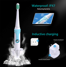 Kemei 30000/Min Ultrasonic Waterproof Rechargeable Electric Toothbrush with 3 Heads Oral Hygiene Dental Care for Kids Adults