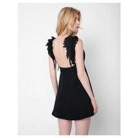 New Designer 2017 Summer Women Dresses Sexy Beach Club Party Dresses Chiffon Leaf Wings Strap Mini