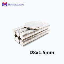 2000pcs 8 x 1.5 mm neodymium magnet super strong disc 8x1.5 potmagnet practical magnets Dia 8x1.5mm 8*1.5 D8x1.5 D8*1.5
