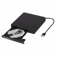 External DVD ROM Optical Drive USB 2 0 CD DVD ROM CD RW Player Burner Slim