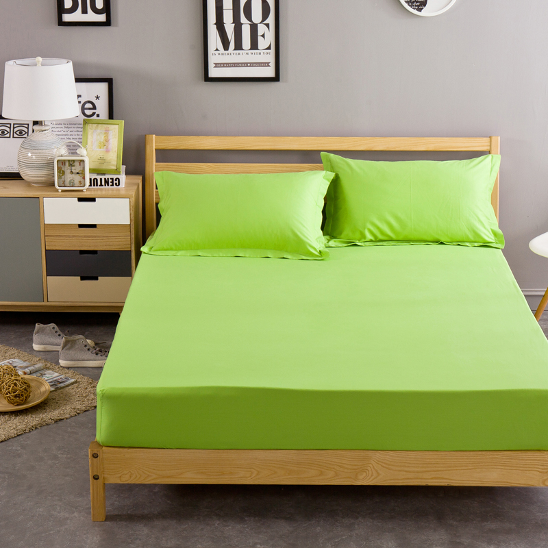 Aliexpress.com : Buy Cotton Solid Bed Sheet Light Green Fitted Sheet  Bedding Sheets Twin Full Queen Size Bedsheet Pad Protector Sheet For Adults  From ...