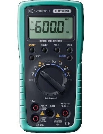 KYORITSU 1009 DIGITAL MULTIMETER TRUE RMS 600V AC/DC VOLTAGE MULTIMETER  цены