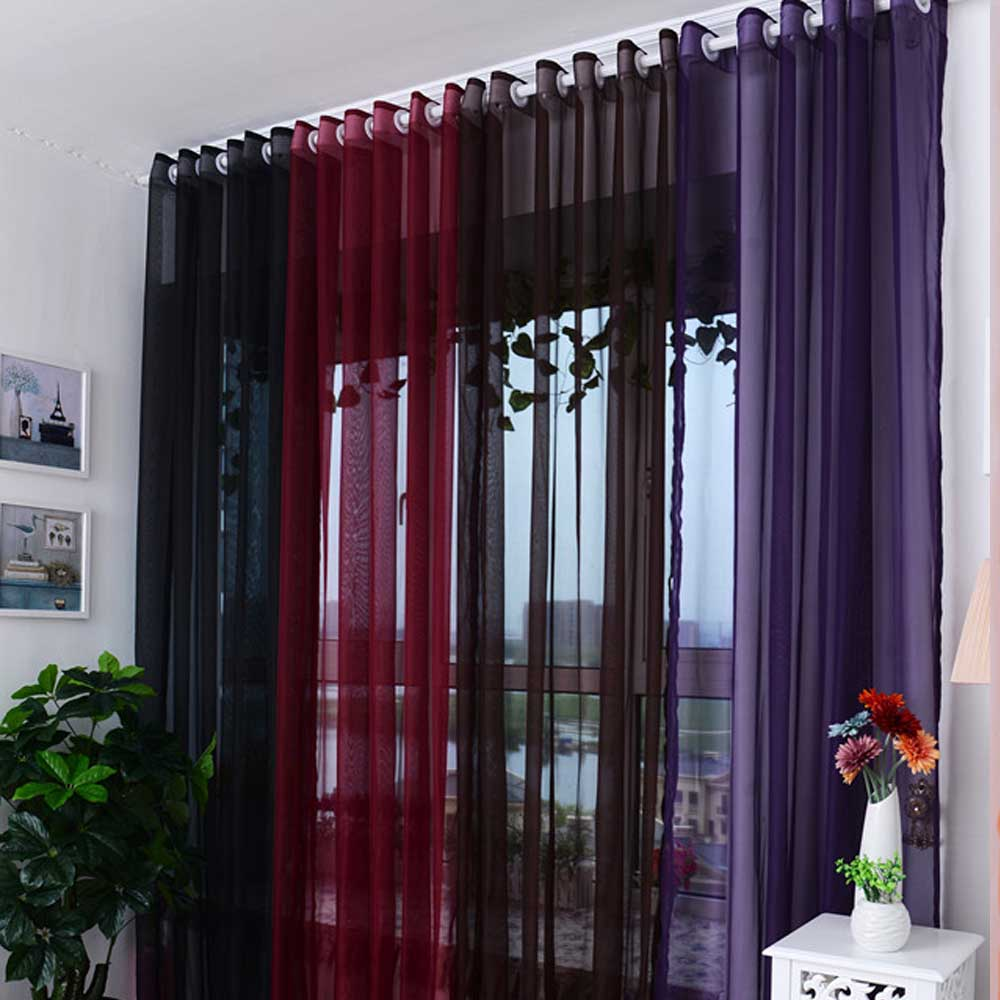 New Gauze Tulle Quality Finished Tulle Rainbow Curtains for the