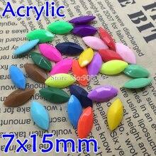 TopStone Большая распродажа 100 шт. 7x15 мм конский глаз различных цветов Маркиза Акриловые твердые конфеты острый назад изысканный камень