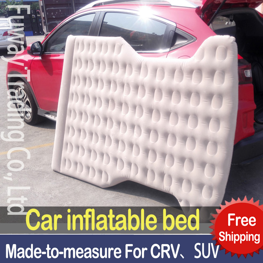 DHL Free Shipping!!SUV Car Cushion Auto Air Matting Flocked Air Bed Inflatable for Road Trip,Travel,Camping car inflatable bed надувная мебель relax кровать надувная flocked air bed double