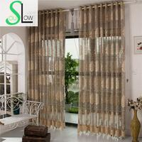 Slow Soul Gray Card Beige White Jacquard Hollow Bedroom Living Room Europe Floral Curtains Cortinas Tulle
