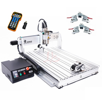 2200W 3 Axes 4 Axis Mini CNC Router 8060 USB Limit Switch CNC Metal Milling Cutting Machine with MACH3 Remote Controller
