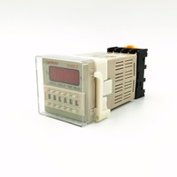 10 PZ/LOTTO 12VDC/24VDC/110VAC/220VAC Multifunzione Digitale Relay Timer On Delay 8 Pins SPDT DH48S-S Ripetere ciclo