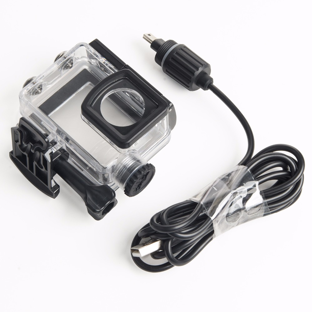 LANBEIKA For SJCAM Accessories Motorcycle Waterproof Case Housing Charging Case With USB Cable For SJCAM SJ6