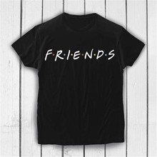 2019 friends women tshirt Summer VOGUE Letter Print Friends Tv T-shirt Casual Short Sleeve Tops ladies Hipster Camisetas Mujer
