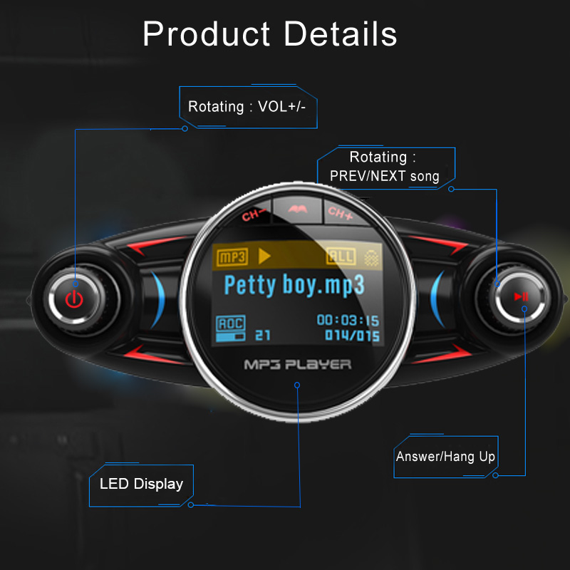 E0551 BT08 Bluetooth Car Kit (3)