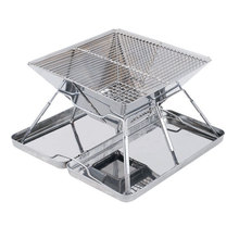 Portable folding carry on Top quality 430 stainless steel BBQ grill Charcoal grills for Outdoor barbecue
