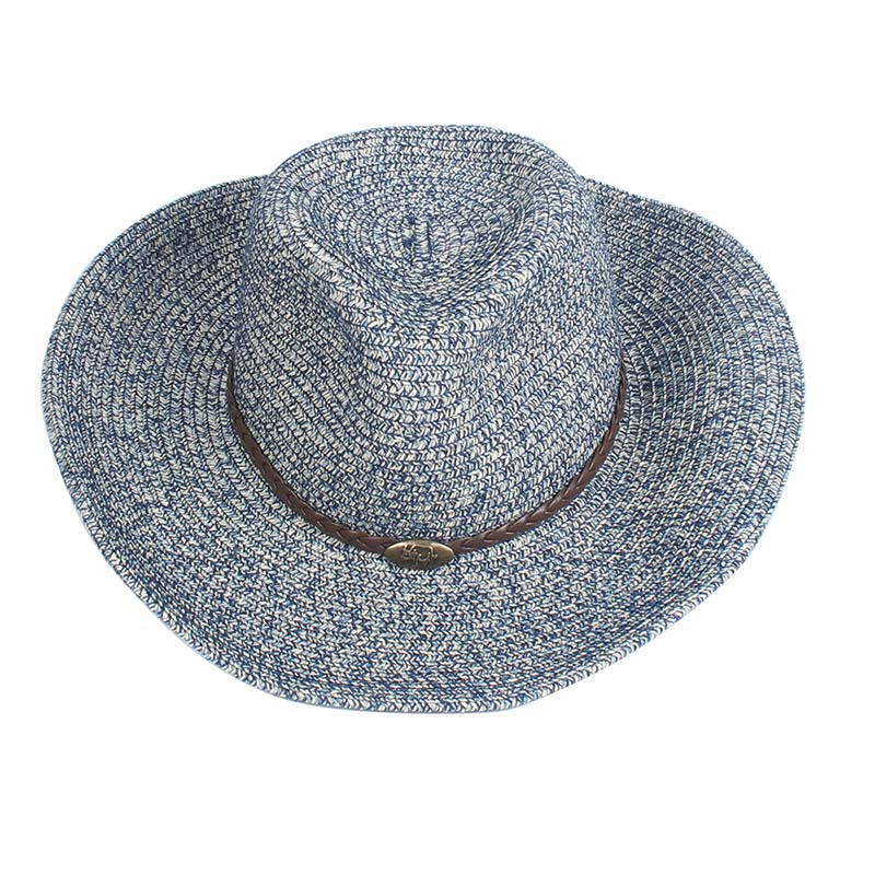 Western Cowboy Caps Sun Hat For Couple Sombreros Vaquero Casual Panama Straw Hat